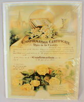 Old Print Factory Confirmation Certificate Scrapbooking Framing Crt008