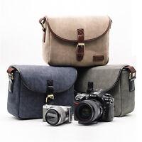 Canvas Travel Shoulder Messenger Bag for Canon Nikon Sony DSLR Digital Camera