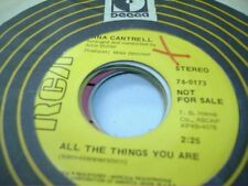 Pop Promo 45 LANA CANTRELL All the Things You Are on RCA (promo) 5