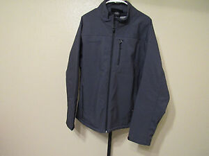 NWT-Free-Country-Mens-Softshell-Jacket-Color-Charcoal-Print-Size-Small-100-00