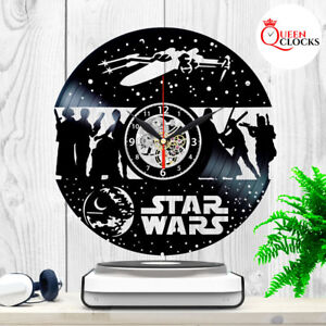 Star-Wars-Death-Star-Darth-Vader-R2-D2-Joda-Vinyl-Record-Wall-Clock-Gift-Decor