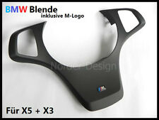 Genuine BMW Steering Wheel Trim BLACK fit for X5 E53 Cover Interior +M Badge NEW
