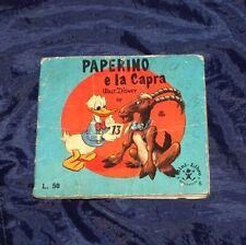 PAPERINO E LA CAPRA WALT DISNEY MINI LIBRO MONDADORI 1°EDIZIONE 1962