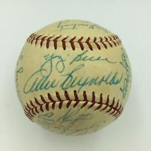 Beautiful-1954-New-York-Yankees-Team-Signed-Baseball-Mickey-Mantle-With-JSA-COA