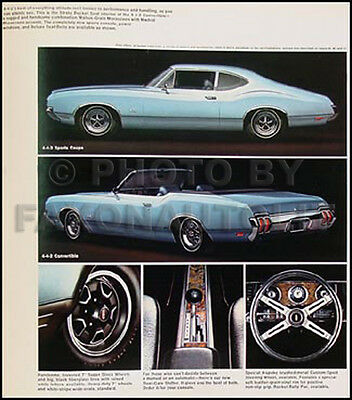 1970 Oldsmobile Sales Catalog 442 W30 W31 W 30 W 31 Supreme S F 85 Cutlass  Olds | eBay