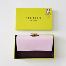 Bnwt Genuine Ted Baker Pale Blue Muscovy Textured Leather Bobble Matinee Purse