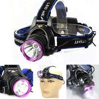 2000 Lumens CREE XM-L XML T6 LED Headlamp Headlight Flashlight Head Lamp Light