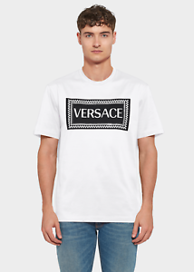 VERSACE SUSTAINABLE  VINTAGE 90S LOGO T-SHIRT - WHITE COLOR - ALL SIZES