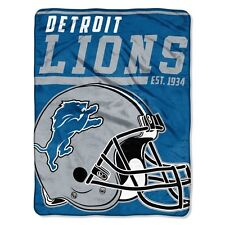 """New NFL Detroit Lions Soft Micro Rasche Large Throw Blanket 46"""" X 60"""""""