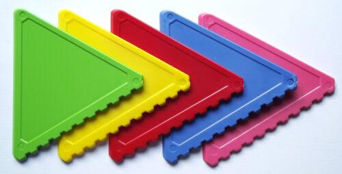 pink 30 Stück Eiskratzer in grün Dreiecksform handlich gelb blau rot