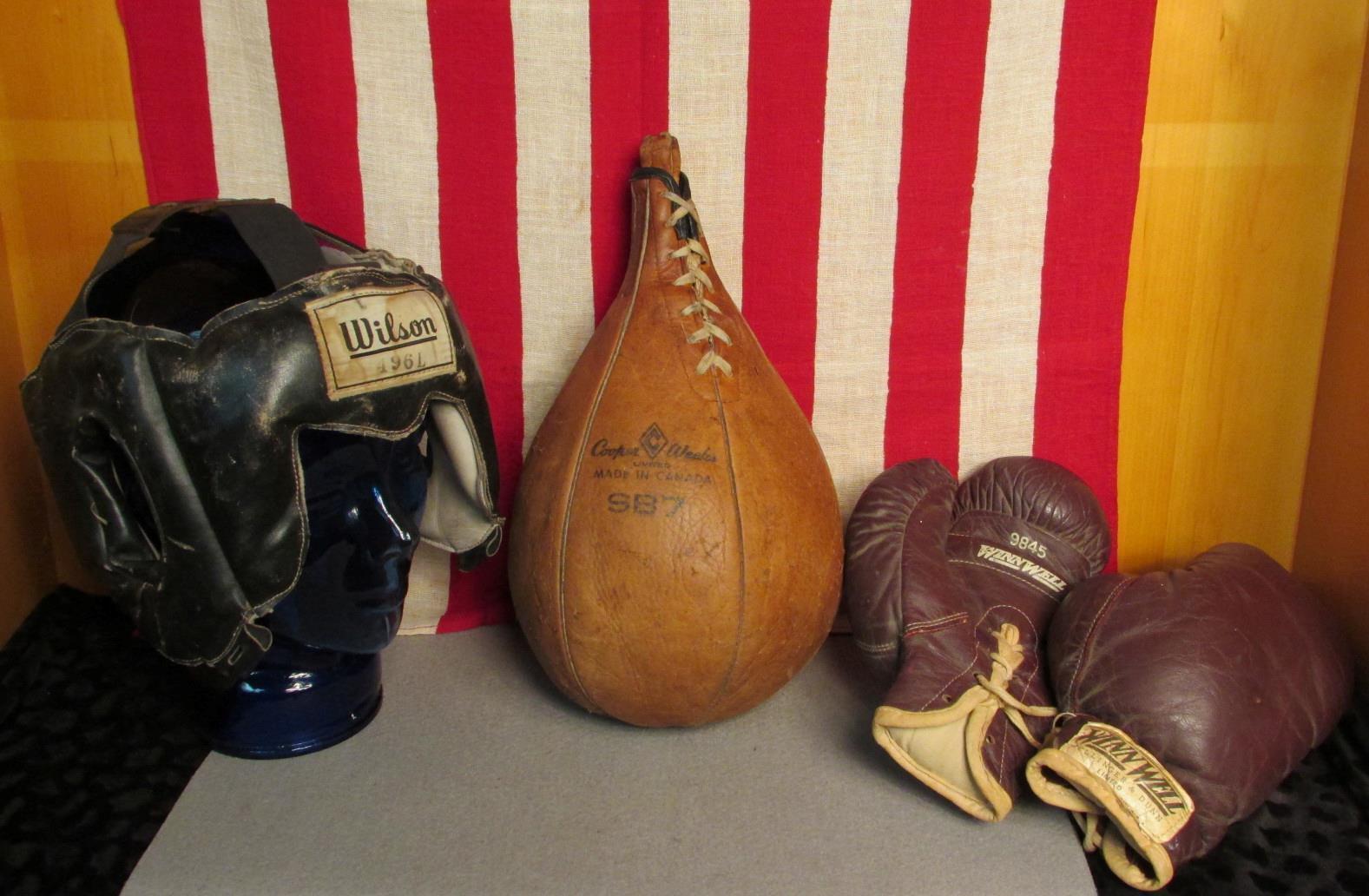 Vintage Kupfer Wochen Boxen Schlagen Geschwindigkeit Tasche Winn Gut Handschuhe