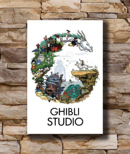 Hot Classic Japan Anime Ghibli Studio Tribute New Art Poster 12x18 24x36 T-1826