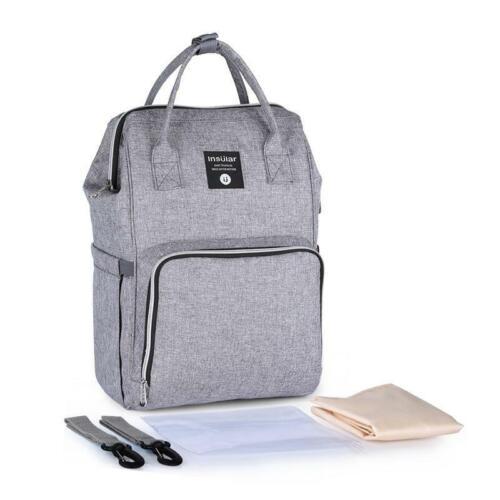 Waterproof Diaper Bag USB Charging Large Capacity Mummy Nursing Backpack REAL