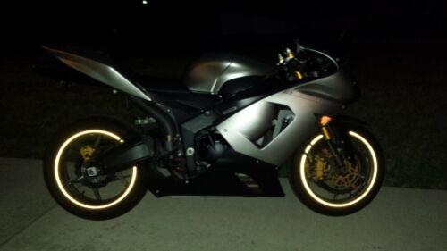 CUSTOM YELLOW 3M REFLECTIVE PERSONALIZE MOTORCYCLE RIM STRIPE WHEEL TAPE STICKER