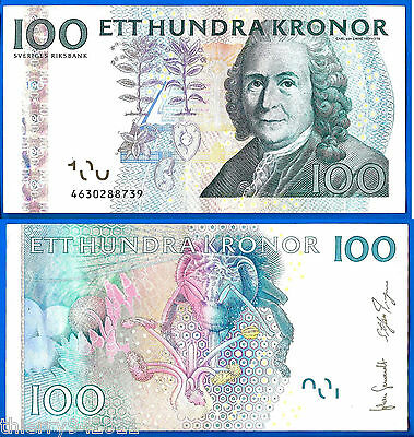 SWEDEN 100 Kronor Banknote World Money UNC Currency Europe BILL p65c Note