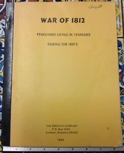 War Of 1812 Prisoners Living In Tennessee - Gregath Co. (1983, Paper)