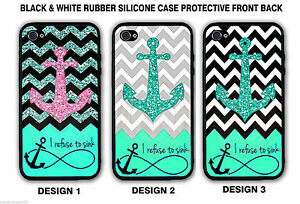 Chevron Anchor (W/OUT GLITTER) REFUSE TO SINK Case For iPhone 7+ 7 6S Galaxy S7