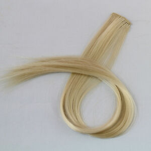 Clip-in-Synthetic-Straight-Blonde-Hair-Extension-19-Length-Hair-Pieces-1-pc