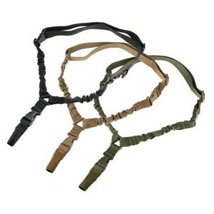 Tactical-One-1-Single-Point-Bungee-Rifle-Gun-Sling-Strap-w-Quick-Release-Buckle