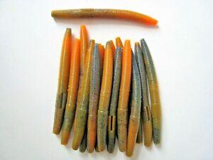 "Green Senko Style Worm Soft Plastic Bait  5.5/"" 10 pk"
