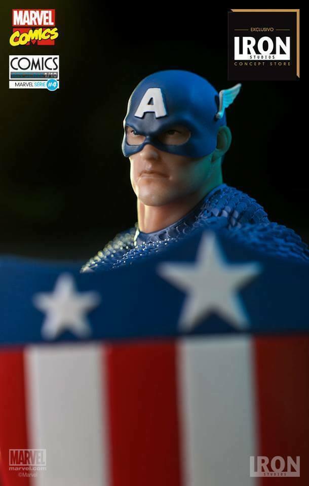 Iron Studios Captain America Art Scale 1/10 Exclusive - Marvel Comics Série 4 on eBay thumbnail