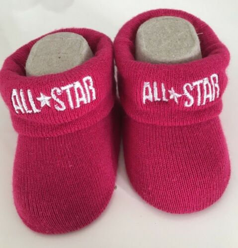 CONVERSE ALL STAR Infant Booties Pink Girly 0-6 Months Baby Newborn Cosy