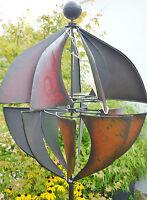 Windspiel Gartenstecker Windrad Garten Figur Metall Deko Kugel H=185cm