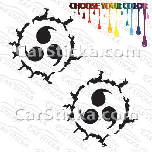 "2 of 5/"" Sasuke Cursed Seal //A car truck bumper vinyl stickers decals die cut"