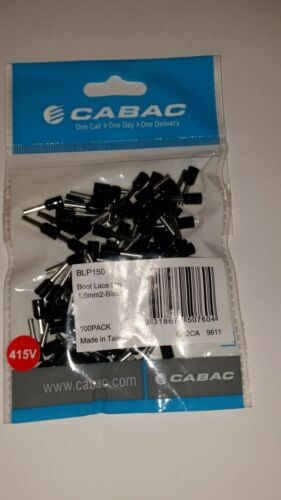 CABAC BLP150 Qty 100  Boot Lace pin  Lug-Ferrule 1.5mm2