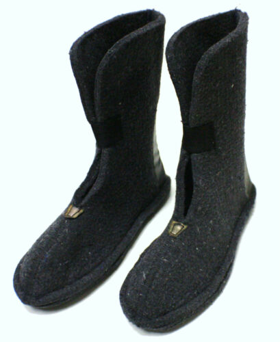 HEAVY WOOL FELT WINTER BOOT LINERS PAIR CHILDS SIZE 9 80/% WOOL  SNOWMOBILE SNOW
