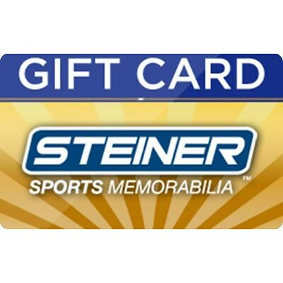 Steiner Sports Memorabilla Inc Gift Card - $25 $50 $100 - Email delivery