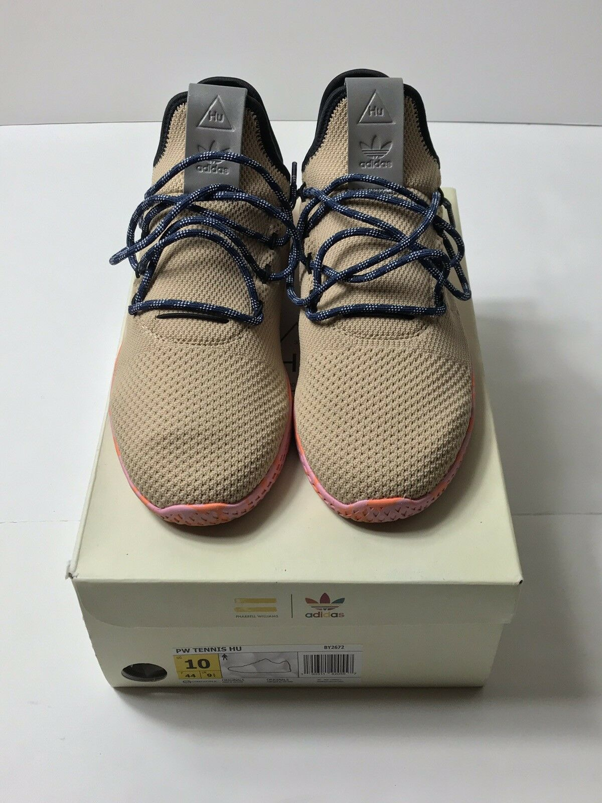 a0bb417aa0950 Adidas Stan Smith Pharrell Williams Tennis HU Tan Pink Marble BY2672 Size 10
