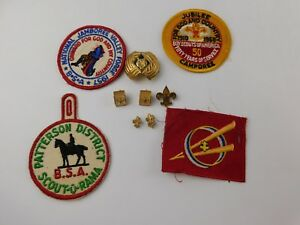Details About Vintage Lot Boy Scout Bsa Jewelry Pins Clip On Earrings Patches Slide