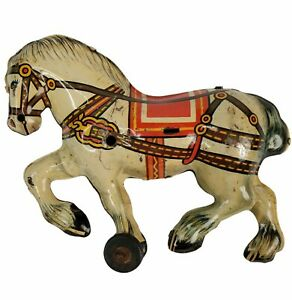 Vintage Plastimarx Marx of Mexico Tin Litho Horse RARE