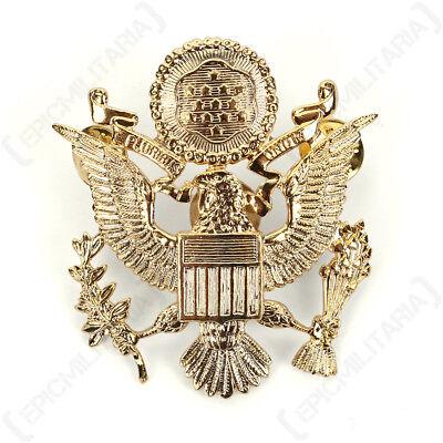 US ARMY OFFICER VISOR CAP BADGE WW2 REPRO