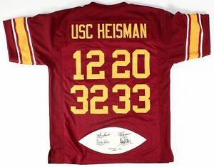 free shipping d8287 92f67 Details about O J Simpson, Marcus Allen, Charles White, & Mike Garrett  Signed USC Jersey PSA