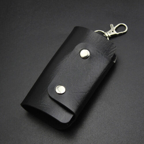 Newest Men Women PU Leather Key Chain Accessory Pouch Bag Wallet Case Key Holder
