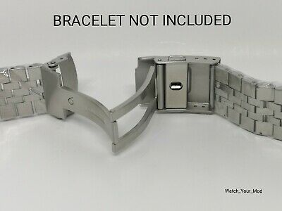 18mm Solid Stainless Steel Push Button Bracelet Clasp For Watch Band, Brushed Um Das KöRpergewicht Zu Reduzieren Und Das Leben Zu VerläNgern