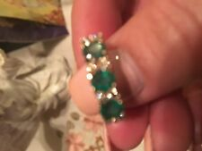 NATURAL EMERALD AND DIAMOND RING IN 14K YELLOW GOLD BEAUTIFUL