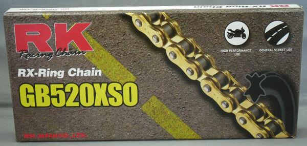 RK GB520XSO Z1 Z1 Z1 Motorrad RX-Ring Kette Gold 9c495f