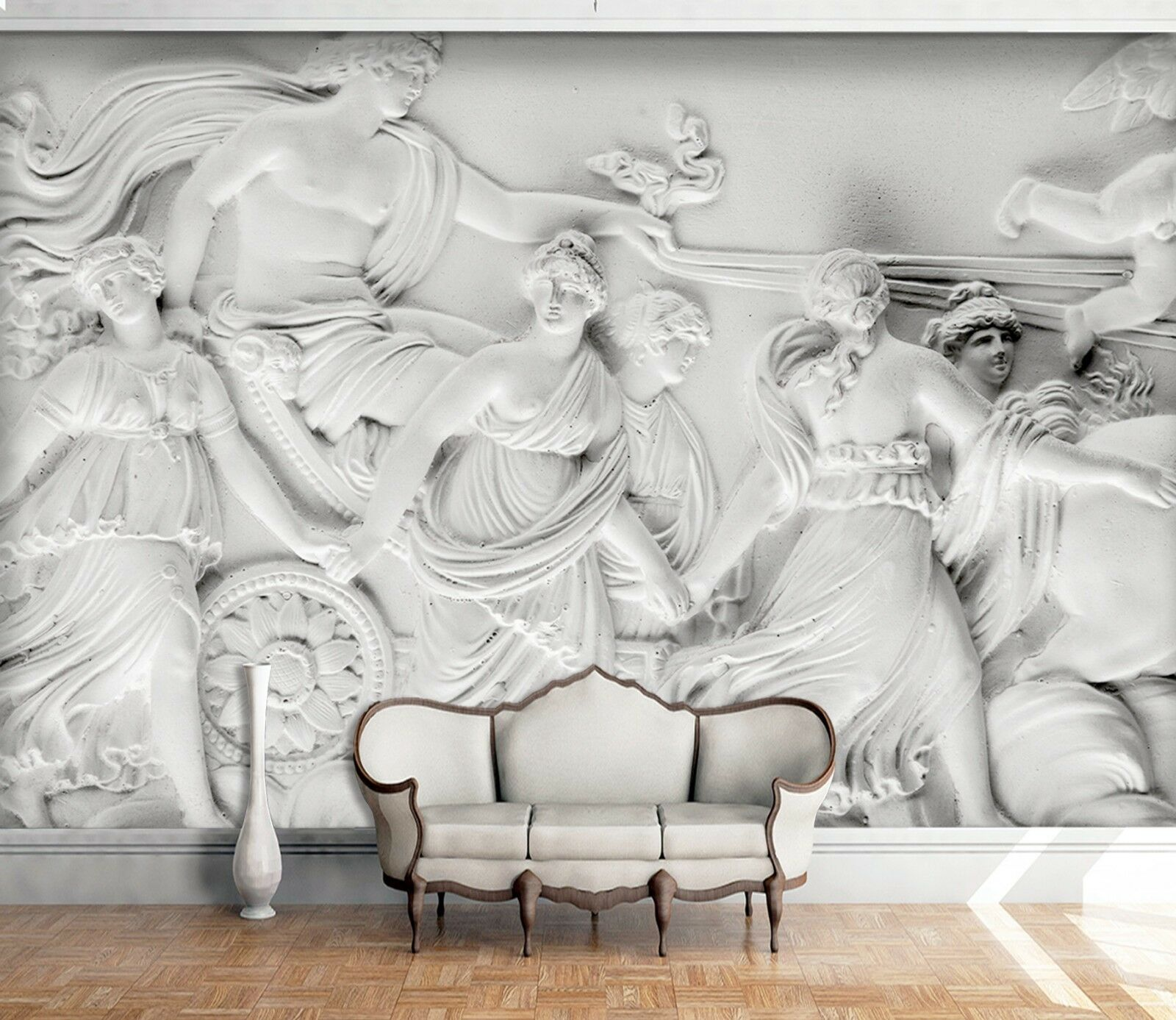 3D Weiß Female Relief 4 Wall Paper wall Print Decal Wall Deco Indoor wall Mural
