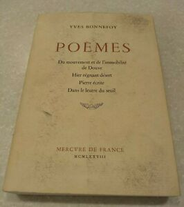 Details About Rare Poèmes By Yves Bonnefoy Signed First Edition