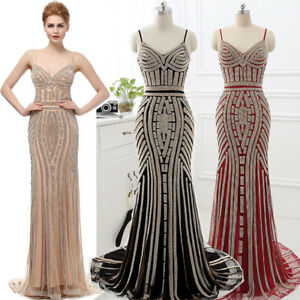 3b37e648c48 Image is loading Luxury-Crystal-Long-Wedding-Evening-Ball-Gown-Formal-