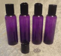100 2oz Purple Bottles Liquid Storage Plastic Empty Container+caps Wholesale Lot