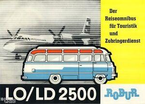 veb robur werke zittau lo ld 2500 omnibus bus prospekt. Black Bedroom Furniture Sets. Home Design Ideas