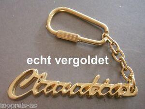 Design; In Symbol Der Marke Edler SchlÜsselanhÄnger Claudia Vergoldet Gold Name Keychain Weihnachtsgeschenk Novel