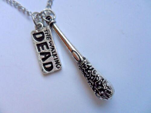 """Walking Dead Wire Negan  Bat /"""" LUCILLE /"""" Pendant Necklace"""