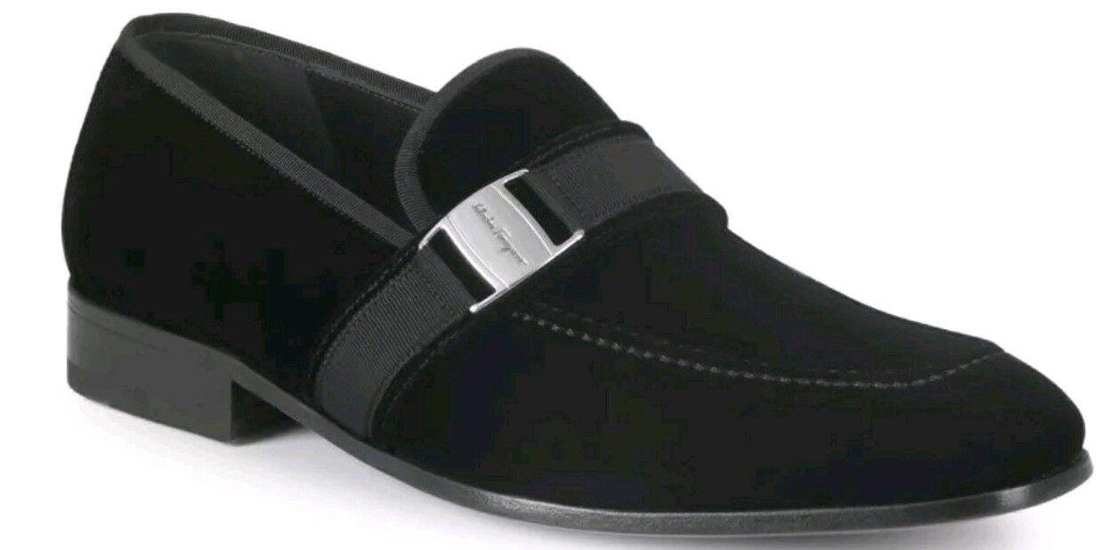 New Salvatore Ferragamo Danny Black Velvet Loafers Size 13D  695.00 2018 Style