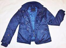 Calvin Klein Collection Hermoso Feather & Goose Down Jacket Azul UK 10/12