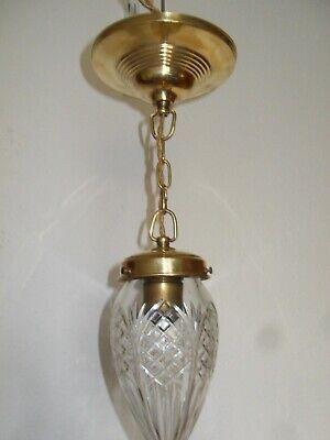 Wand-Deckenhalter Messing Lampe brün o.Schirm Gh.8-H.10cm Vintage Jugendstil